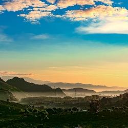 Bình minh phố núi Sơn La
